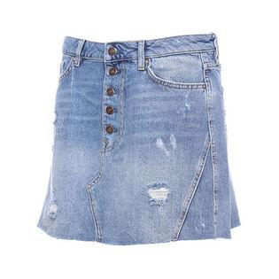 Women's Denim A-Line Skirt