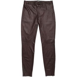 Women's Faux Leather Zip Pant