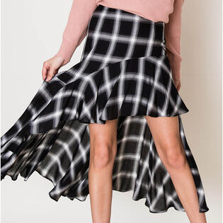 Women's Plaid High-Low Skirt