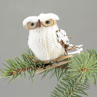 Knit Owl Clip-On Ornament