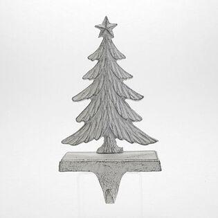 Antique White Fir Tree Stocking Holder