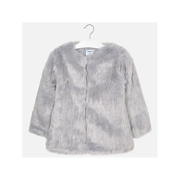 Manteau en similifourrure pour filles juniors [8-14]