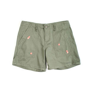 Women's Embroidered Army Short