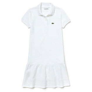 Girls' [2-6] Openwork Pique Knit Polo Dress