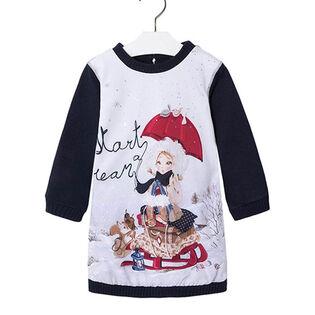 Girls' [3-6] Satin Fleece Sweater Dress