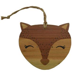 Décoration en bois en forme de renard