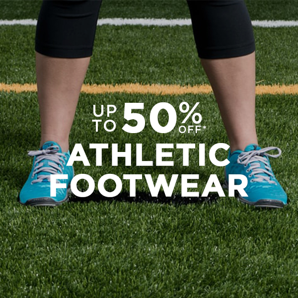 Athletic Footwear Up to 50% Off