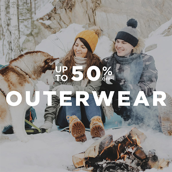 Outerwear up to 50% off