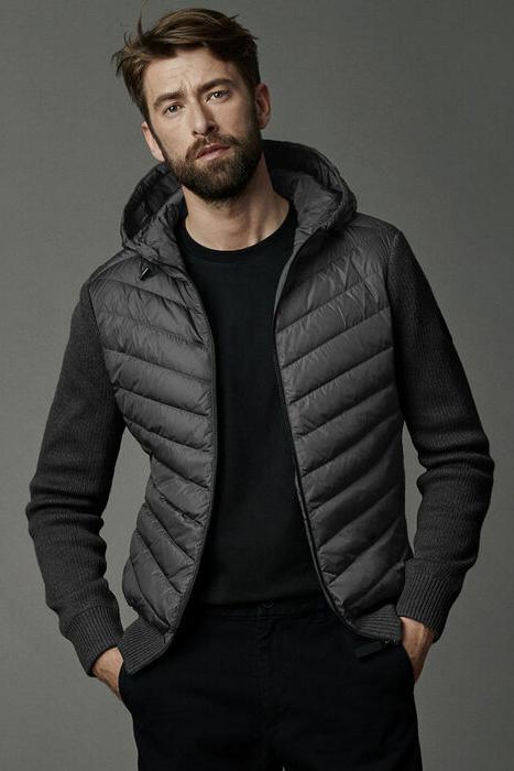 Canada Goose Black Label - Veste à capuchon en tricot Hybridge pour hommes