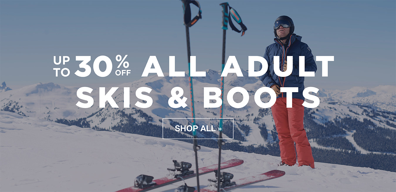 All Adult Skis & Ski Boots - Up to 30% Off