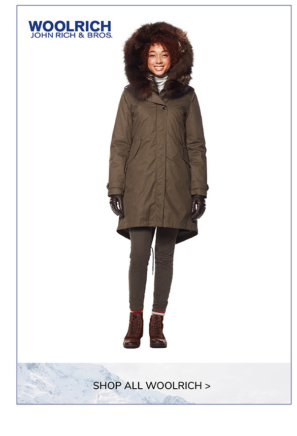 JRB-Woolrich Women's Literary Silver Fox Coat