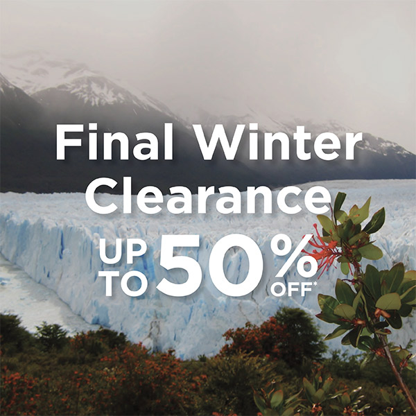Winter Clearance  - Up to 50% Off