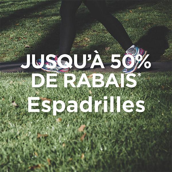 Espadrilles - Jusqu'à 50% de rabais