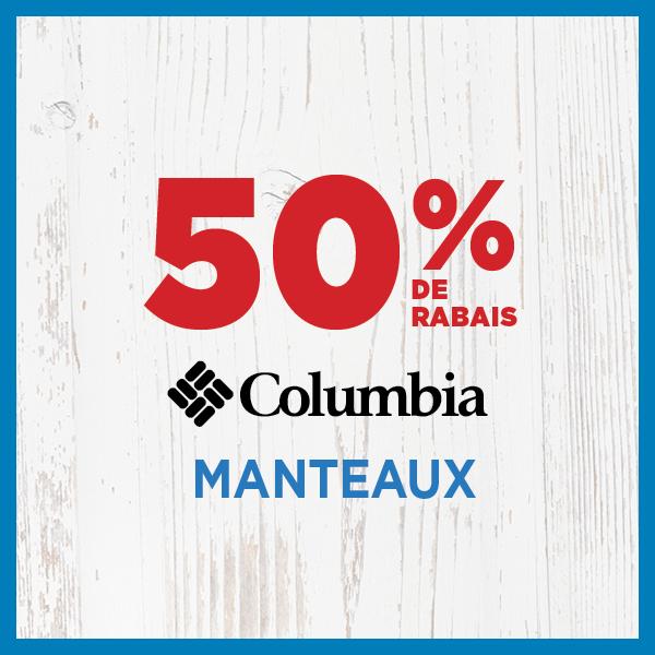 50% de rabais Manteaux Columbia