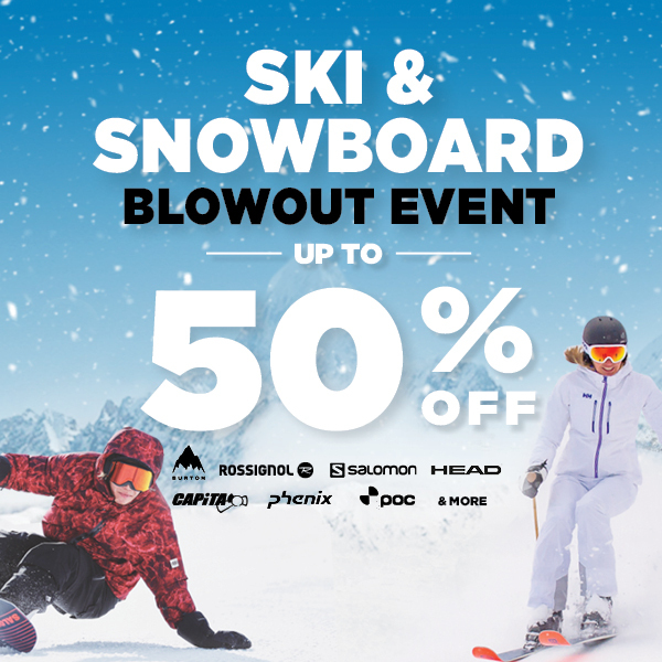 Ski & Snowboard Blowout Event Up to 50% Off