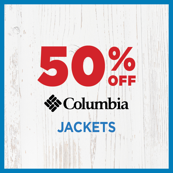 50% Off Columbia Jackets