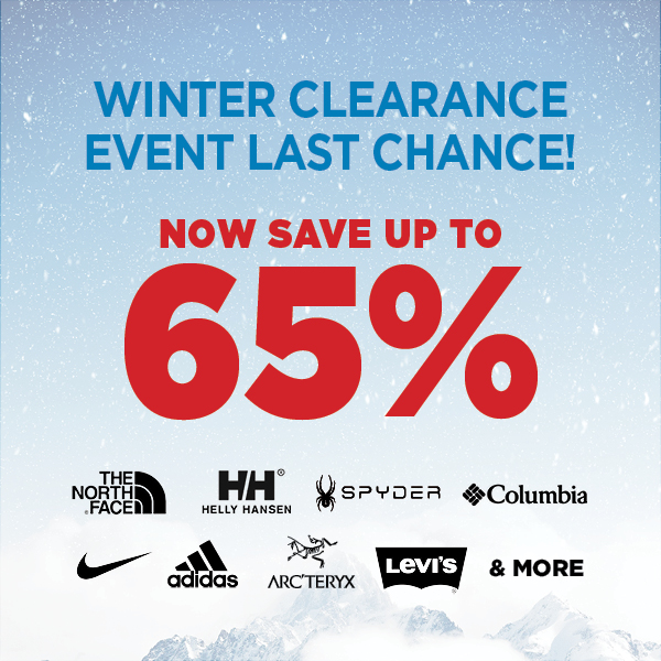 Winter Clearance Event Up to 50% Off