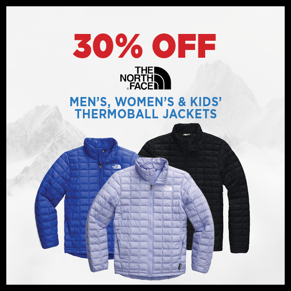 30% Off The North Face Thermoball Jackets