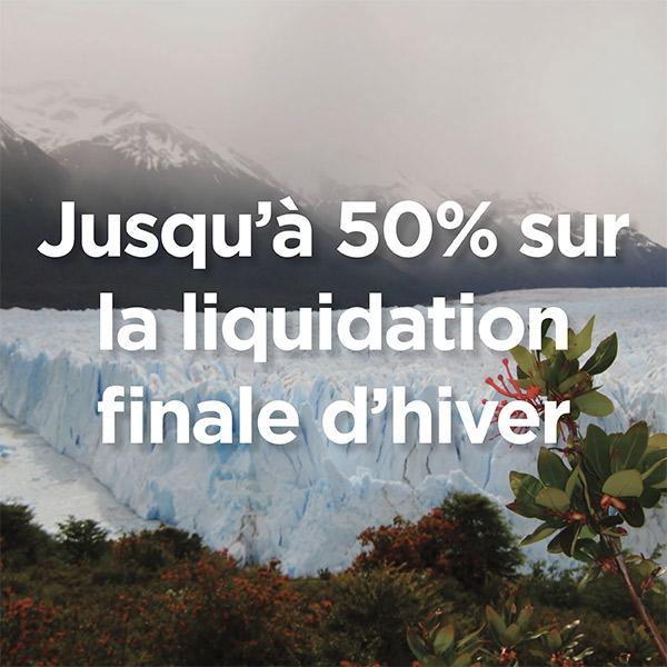 Solde de liquidation d'hiver – Jusqu'à 50% de rabais