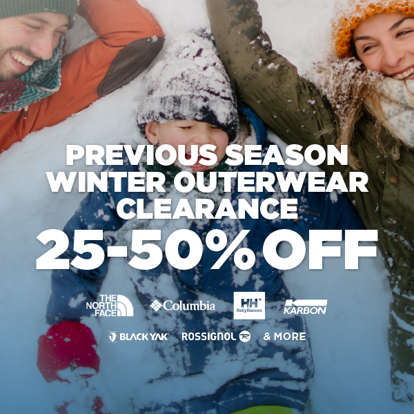 Previous Season Winter Outerwear Clearance - 25-50% Off