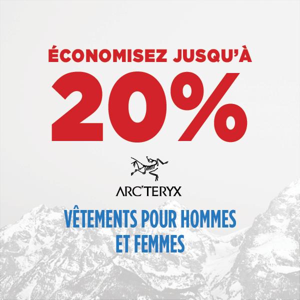 Économisez jusqu'à 20% - Arc'teryx