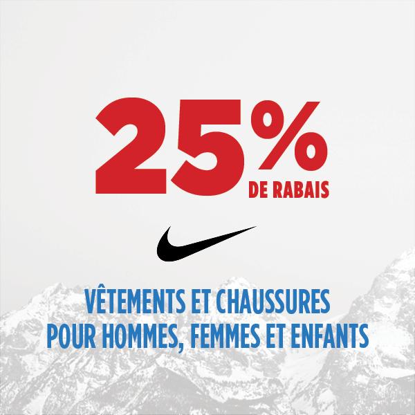 25% de rabais Nike