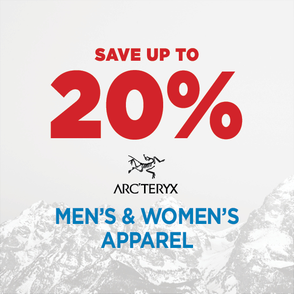 Save Up to 20% Arc'teryx