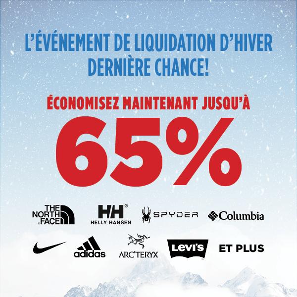 Événement de liquidation - Jusqu'à 50% de rabais