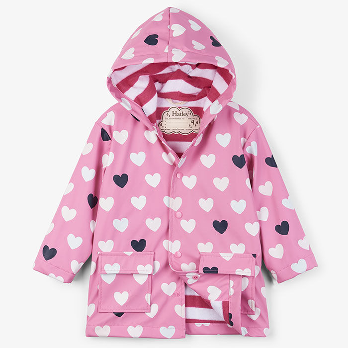 HatleyColour-Changing Lovely Hearts Raincoat