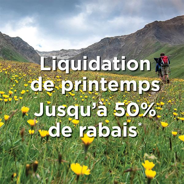 Solde de liquidation printanier - Juqsqu'à 50% de rabais