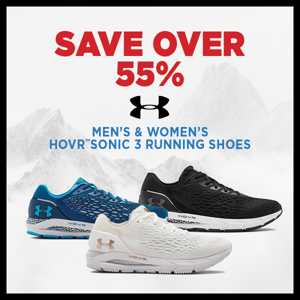 Save Over 55% Under Armour Men's & Women's HOVR™ Sonic 3 Running Shoes