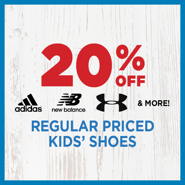 20% Off Regular Priced Kids' Shoes