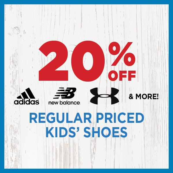 20% Off Regular Priced Kids' Shoes