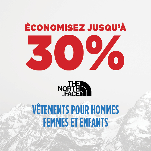 The North Face - Jusqu'à 30% de rabais