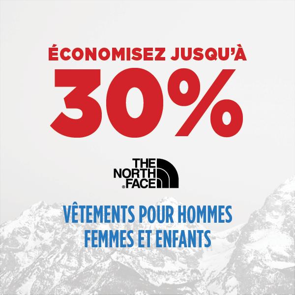 The North Face - Jusqu'à 30% de rabais