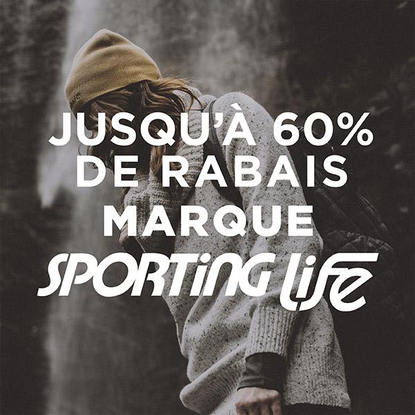 Marque Sporting Life - Jusqu'à 60% de rabais